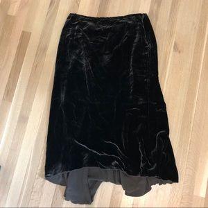 Peruvian Connection Brown Velvet Maxi Skirt 18